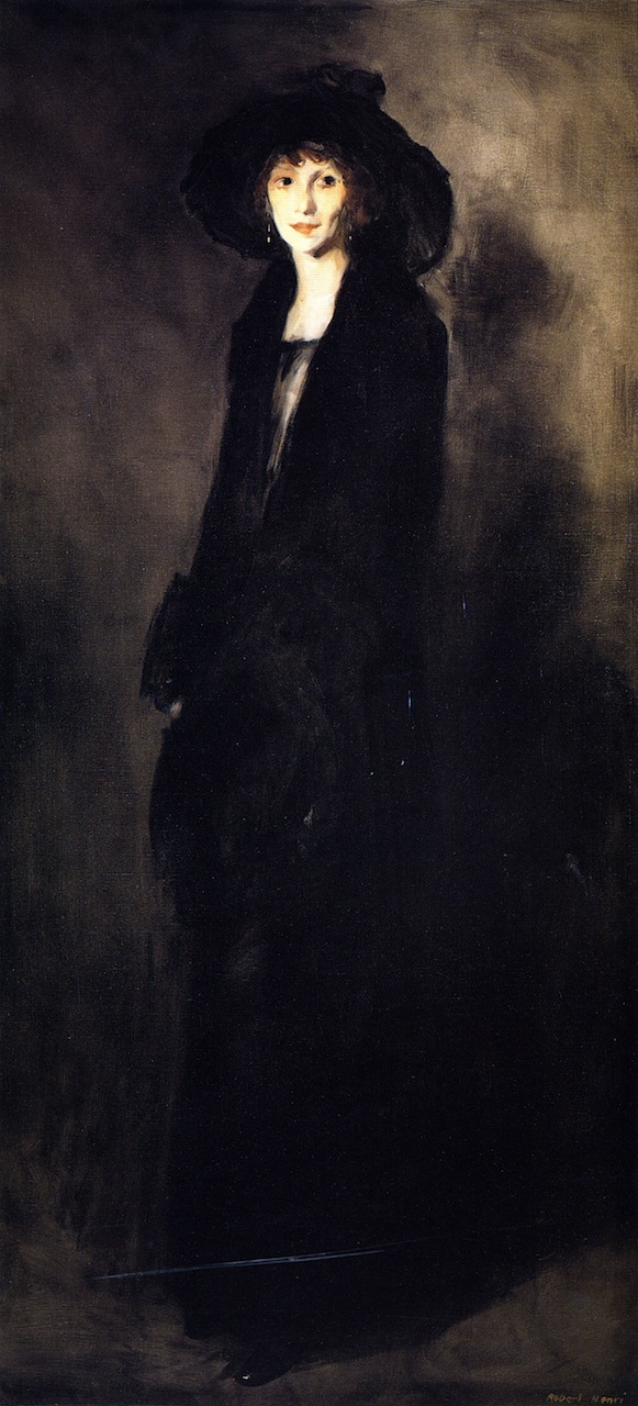Lady in Black Velvet | Robert Henri | oil painting