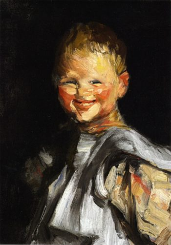 Laughing Child | Robert Henri | oil painting