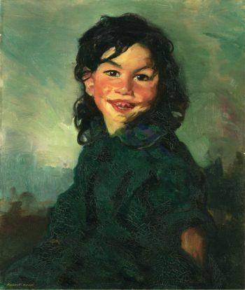 Laughing Gypsy Girl | Robert Henri | oil painting