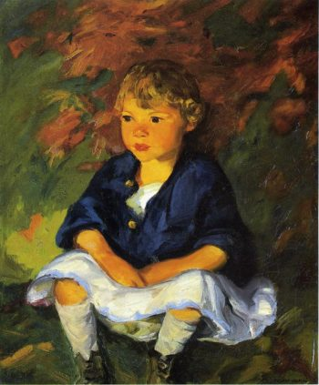 Little Country Girl | Robert Henri | oil painting