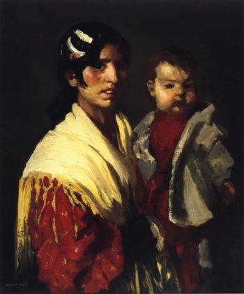 Maria y Consuelo | Robert Henri | oil painting