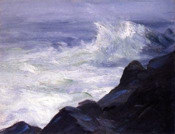 Marine Break over Sunken Rock Storm Sea | Robert Henri | oil painting
