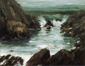 Marine with Rocks | Robert Henri | oil painting