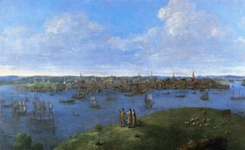 Vew sic of Boston | John Smibert | oil painting