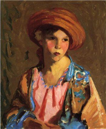 Mildred O Hat | Robert Henri | oil painting