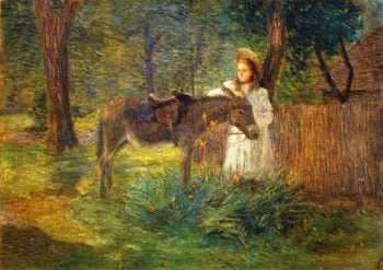 After the Ride | Julian Alden Weir | oil painting