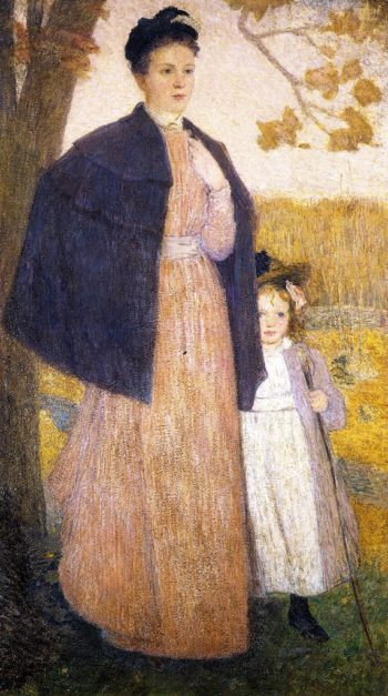 An Autumn Stroll | Julian Alden Weir | oil painting