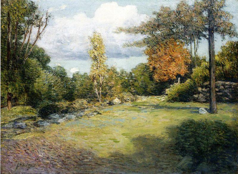 Autumn Days   Julian Alden Weir   oil painting