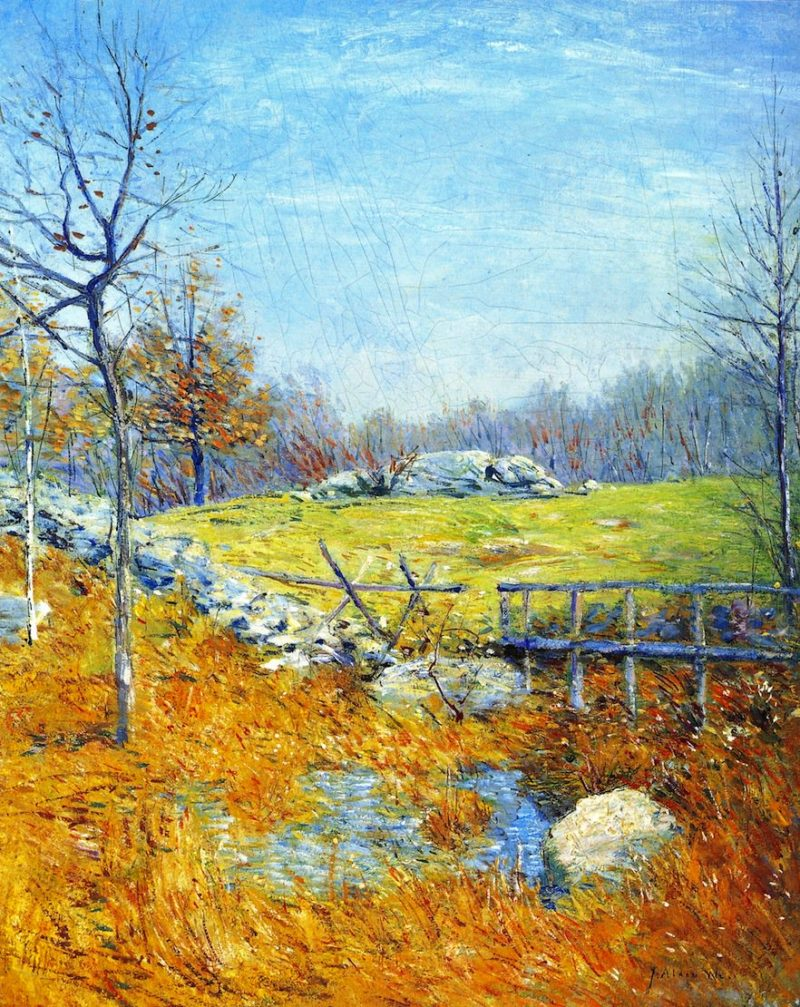 Autumn on the River | Julian Alden Weir | oil painting