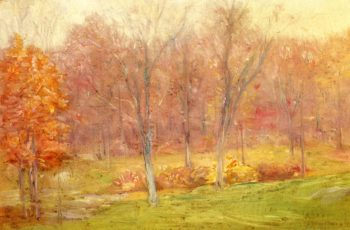 Autumn Rain | Julian Alden Weir | oil painting