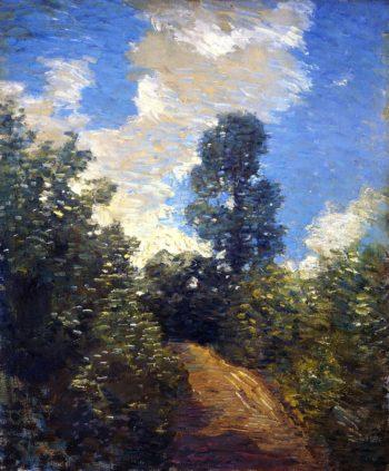 Back Road   Julian Alden Weir   oil painting