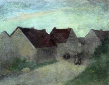 Old Houses in Normandie | Robert Henri | oil painting