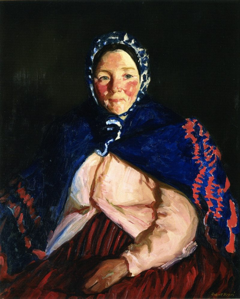 Old Johnnie's Wife   Robert Henri   oil painting