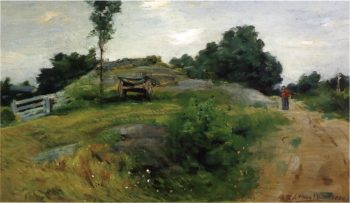 Connecticut Scene at Branchville | Julian Alden Weir | oil painting