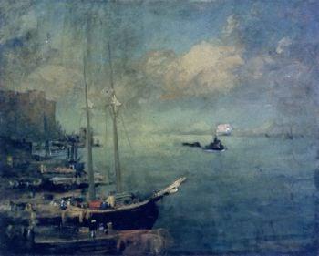 On the East River | Robert Henri | oil painting