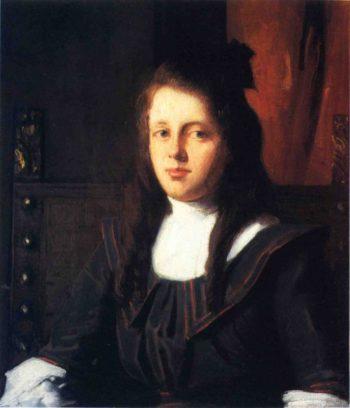 Cora   Julian Alden Weir   oil painting