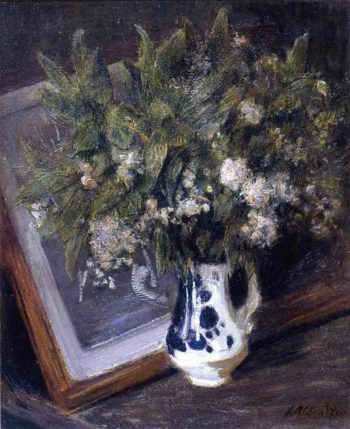 Flowers in a Delft Jug | Julian Alden Weir | oil painting