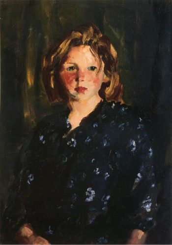 Portrait of a Young Girl | Robert Henri | oil painting