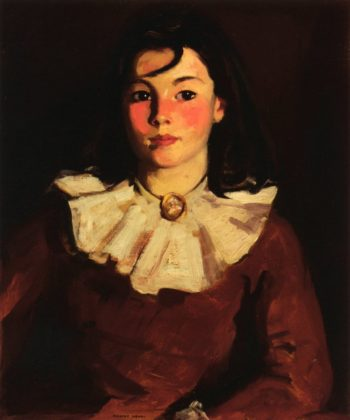 Portrait of Cara in a Red Dress | Robert Henri | oil painting