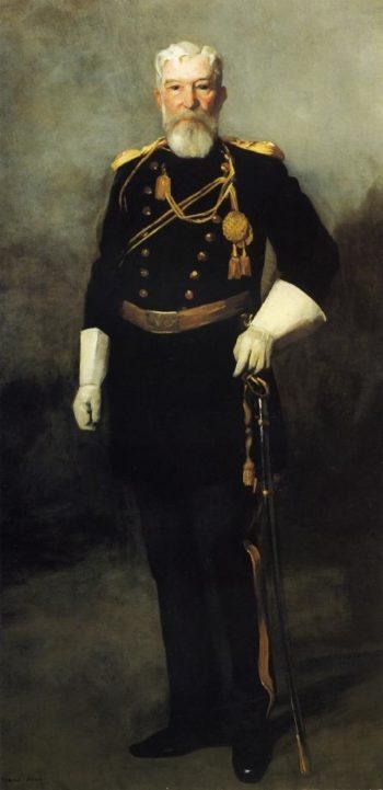 Portrait of Colonel David Perry 9th U S Cavalry | Robert Henri | oil painting