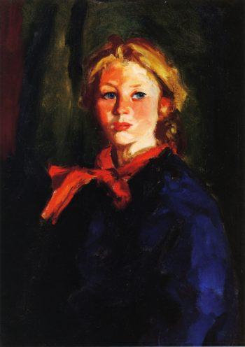 Portrait of Katie McNamara | Robert Henri | oil painting