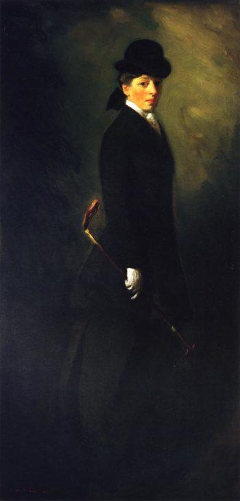 Portrait of Miss Leora Dryer in Riding Custume | Robert Henri | oil painting
