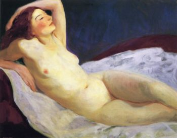 Reclining Nude | Robert Henri | oil painting