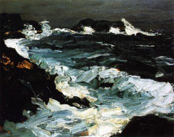 Rough Seas near Lobster Point | Robert Henri | oil painting