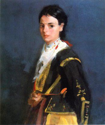 Segovia Girl Half Length | Robert Henri | oil painting