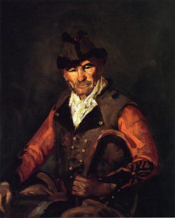 Segovia Man in Fur Trimmed Hat | Robert Henri | oil painting
