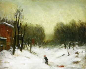 Seventh Avenue in the Snow | Robert Henri | oil painting