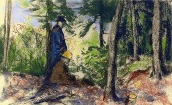 Sketchers in the Woods | Robert Henri | oil painting