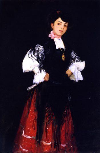 Spanish Girl of Madrid | Robert Henri | oil painting