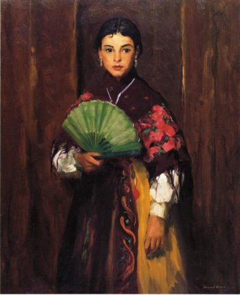 Spanish Girl of Segovia | Robert Henri | oil painting