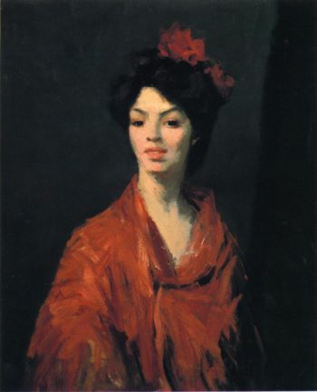 Spanish Woman in a Red Shawl | Robert Henri | oil painting
