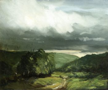 Storm Weather Wyoming Valley   Robert Henri   oil painting