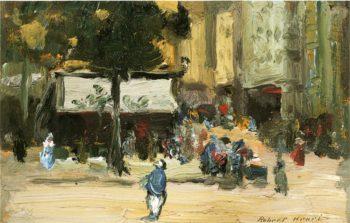 Street Corner in Paris | Robert Henri | oil painting
