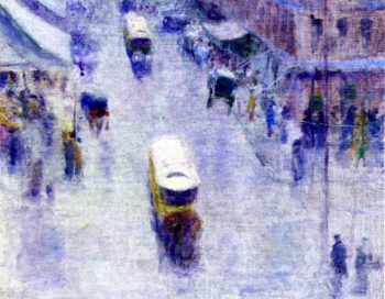 Street Corner | Robert Henri | oil painting