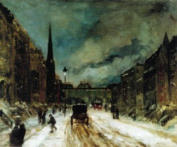 Street Scene with Snow | Robert Henri | oil painting