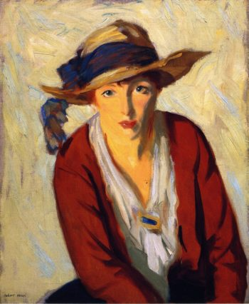 The Beach Hat | Robert Henri | oil painting