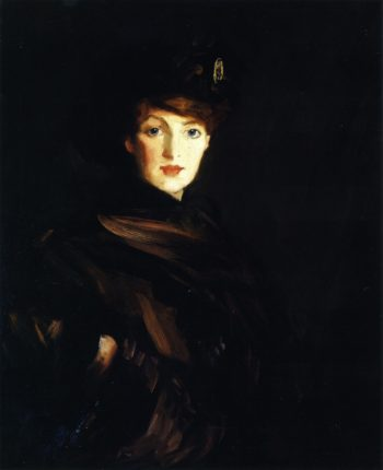 The Brown Wrap | Robert Henri | oil painting