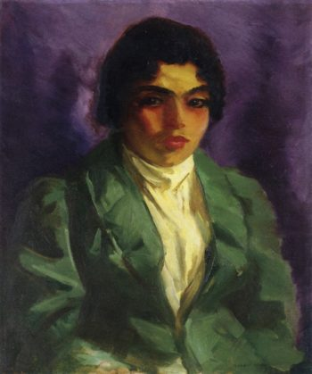 The Green Coat | Robert Henri | oil painting