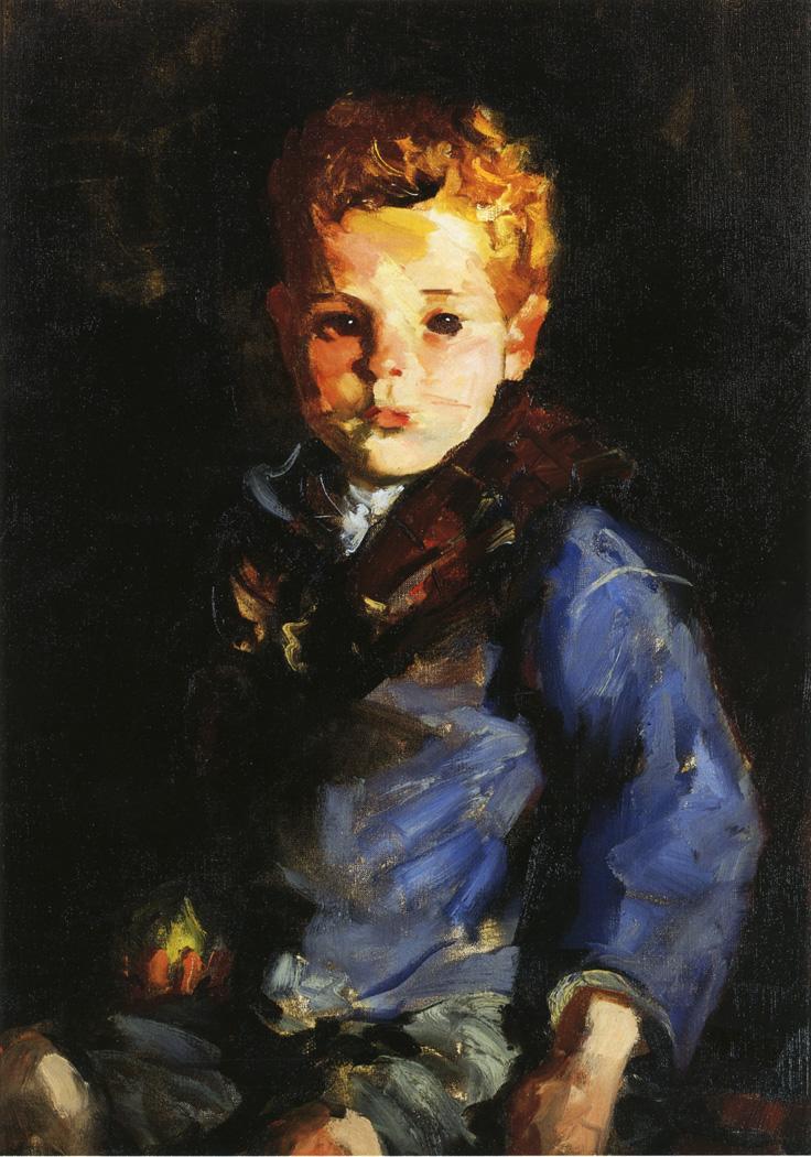 The Irish Boy in Blue Denim Anthony Lavelle | Robert Henri | oil painting