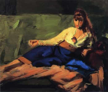 The Lounge | Robert Henri | oil painting