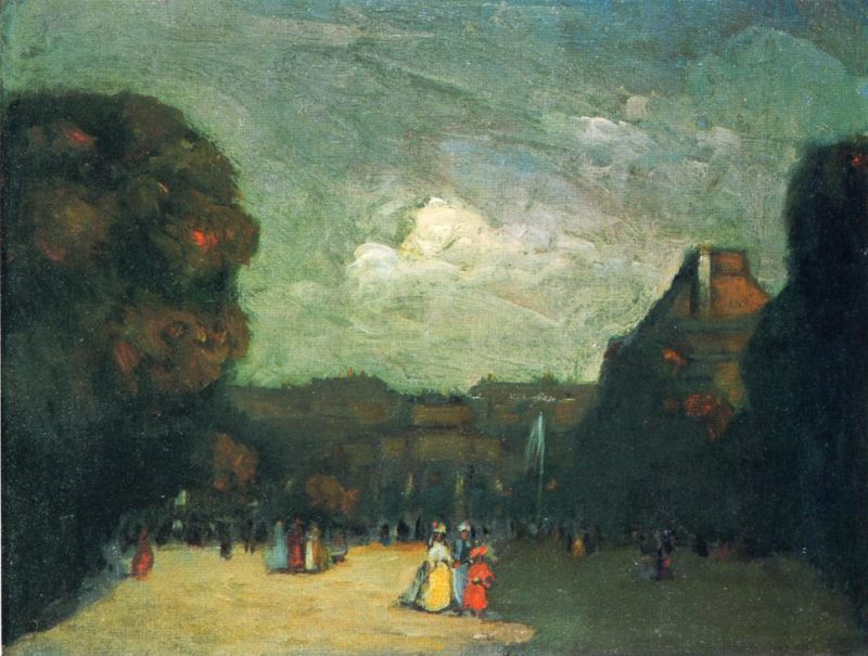 The Louvre | Robert Henri | oil painting