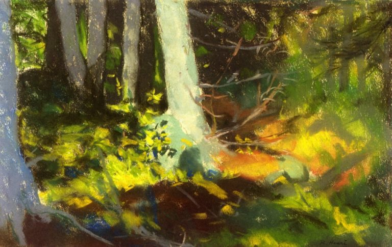 Under the Trees Monhegan | Robert Henri | oil painting