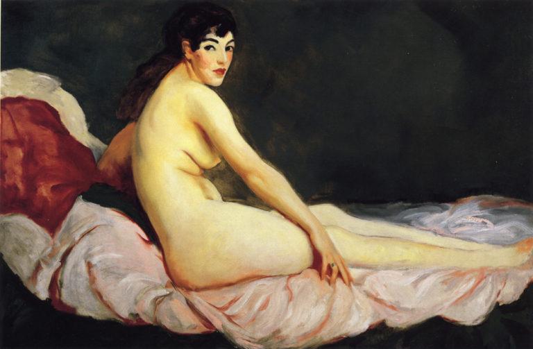 Viv Reclining | Robert Henri | oil painting