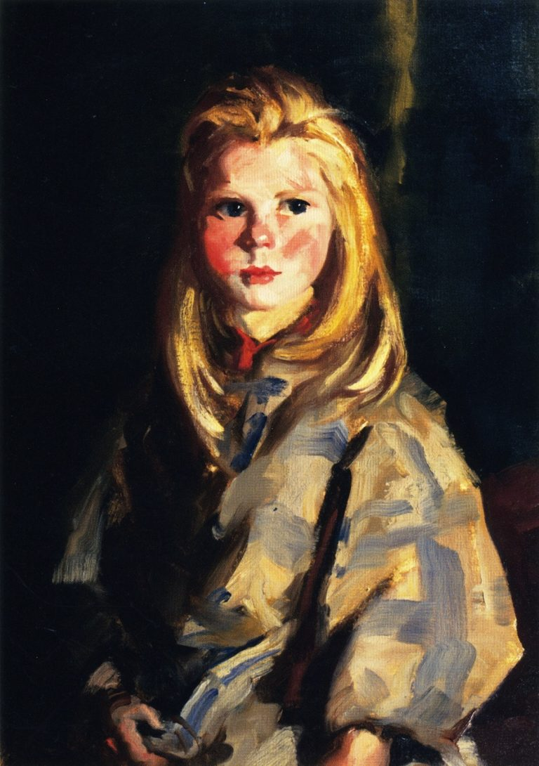 Young Blond Girl Corrymore Lass   Robert Henri   oil painting