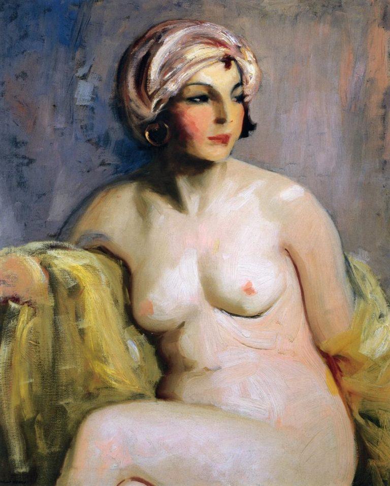 Zara Levy Nude | Robert Henri | oil painting