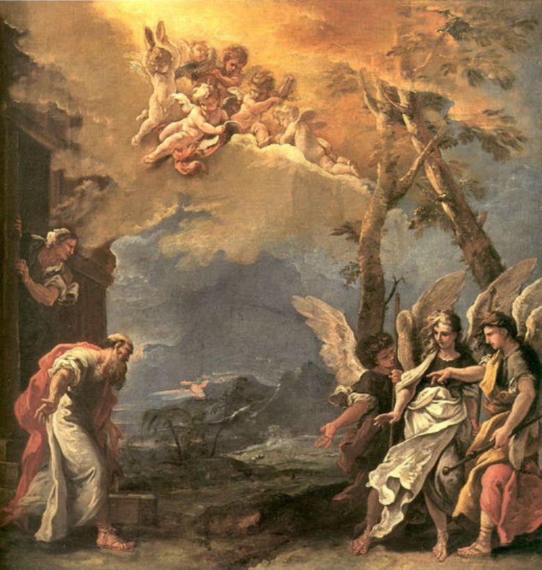 Abraham and Angels | Sebastiano Ricci | oil painting